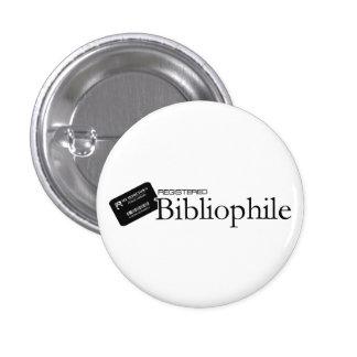 Bibliófilo registrado pin redondo 2,5 cm