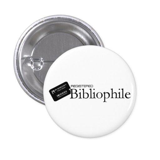 Bibliófilo registrado pin