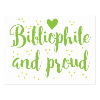 bibliófilo y orgulloso tarjeta postal