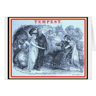 Bibliomania Shakespeare la tempestad Felicitación