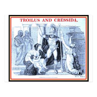 Bibliomania: Shakespeare - Troilus y Cressida Tarjeta Postal