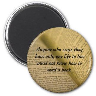 bibliophile 2 inch round magnet