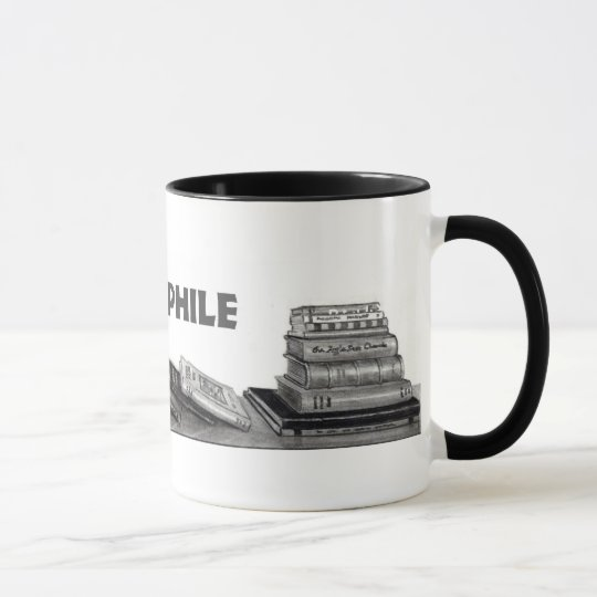 Bibliophile:  Books in Pencil, Realism Mug