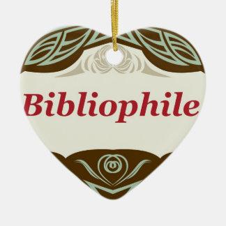 Bibliophile Ceramic Ornament