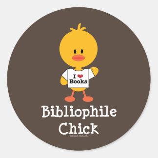 Bibliophile Chick Stickers