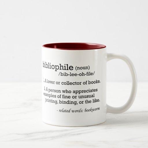 bibliophile, defined mug