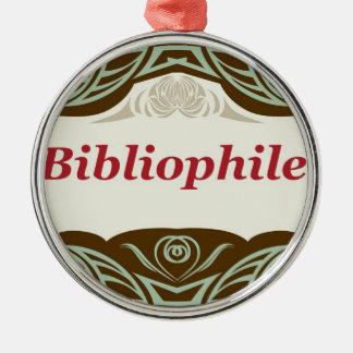 Bibliophile Metal Ornament