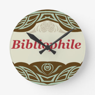 Bibliophile Round Clock
