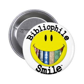 Bibliophile Smile Pinback Button