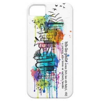 Bibliophile Watercolor Stack of Books iPhone SE/5/5s Case
