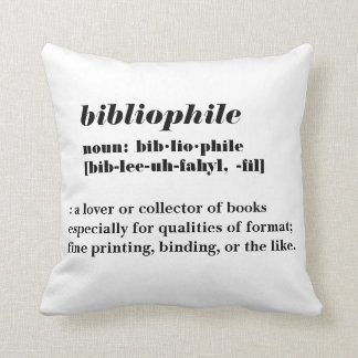 Bibliophile Word-A-Day Pillow