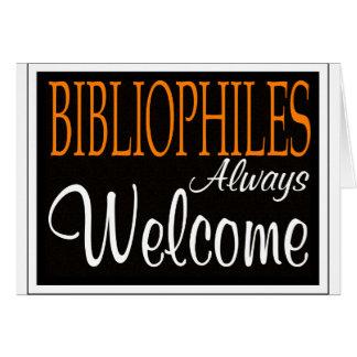 Bibliophiles always welcome greeting card