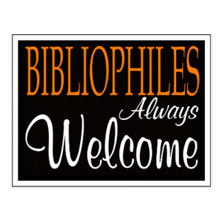 Bibliophiles always welcome postcard