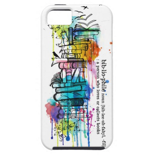 Book Cover Watercolor Uk : Bibliophyle watercolor stack of books iphone covers zazzle