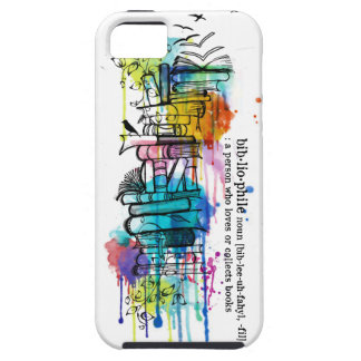 Bibliophyle Watercolor Stack of Books iPhone SE/5/5s Case