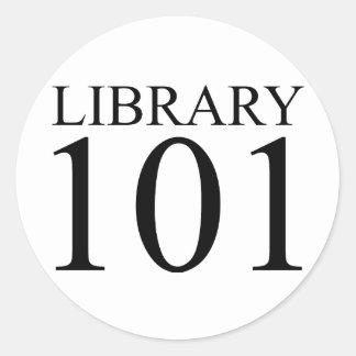 BIBLIOTECA 101 PEGATINA REDONDA