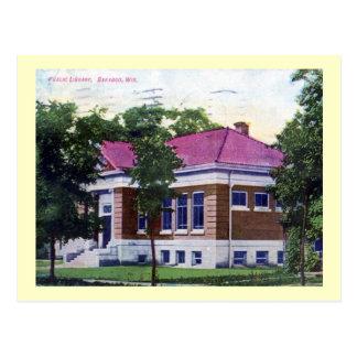 Biblioteca Baraboo vintage de Wisconsin Postales