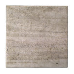 Biblioteca Británica 1215 de la Carta Magna de la  Azulejo