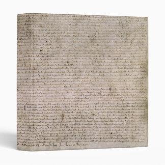 """Biblioteca Británica 1215 de la Carta Magna de la  Carpeta 1"""""""