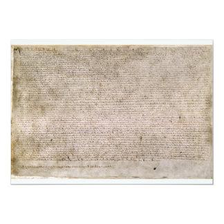 """Biblioteca Británica 1215 de la Carta Magna de la Invitación 5"""" X 7"""""""