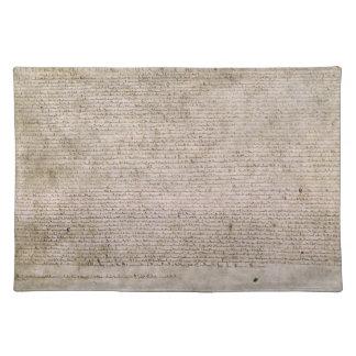 Biblioteca Británica 1215 de la Carta Magna de la  Mantel Individual