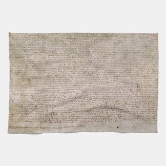 Biblioteca Británica 1215 de la Carta Magna de la  Toalla De Cocina