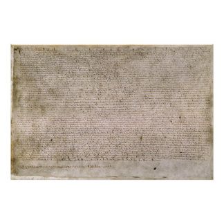 Biblioteca Británica 1215 de la Carta Magna de la  Póster