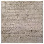 Biblioteca Británica 1215 de la Carta Magna de la  Servilletas Imprimidas