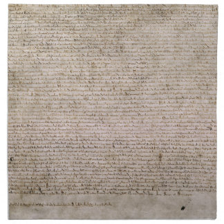 Biblioteca Británica 1215 de la Carta Magna de la  Servilleta De Papel