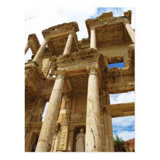 Biblioteca cent3igrada, edificio romano famoso - tarjeta postal