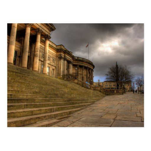 Biblioteca central de Liverpool en el St de Tarjetas Postales