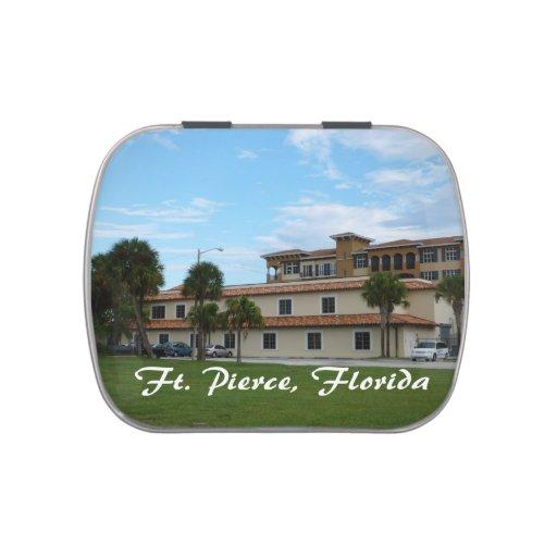 biblioteca céntrica de Fort Pierce la Florida Frascos De Dulces