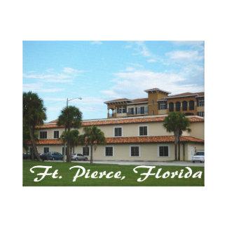 biblioteca céntrica de Fort Pierce la Florida Impresión En Lona