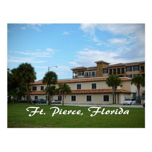 biblioteca céntrica de Fort Pierce la Florida Postales