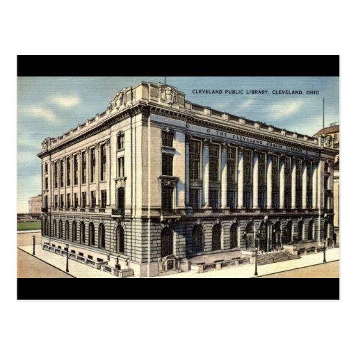 Biblioteca, Cleveland, Ohio c1934 Tarjetas Postales