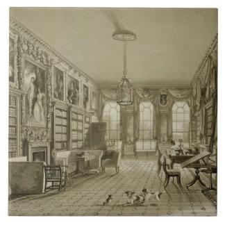 Biblioteca como salón, parque de Cassiobury, c.181 Azulejo Ceramica