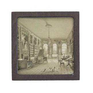 Biblioteca como salón, parque de Cassiobury, c.181 Caja De Recuerdo De Calidad