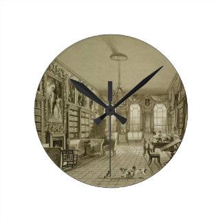 Biblioteca como salón, parque de Cassiobury, c.181 Reloj