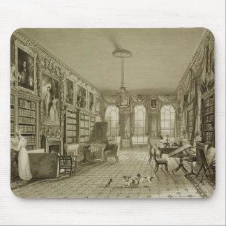Biblioteca como salón, parque de Cassiobury, c.181 Alfombrillas De Raton