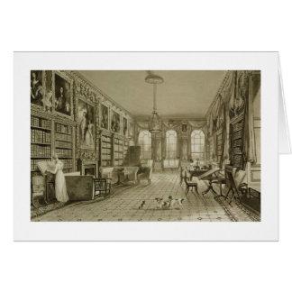 Biblioteca como salón, parque de Cassiobury, c.181 Felicitaciones