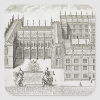 Biblioteca de Bodleian, Oxford, de 'Oxonia Pegatina Cuadrada
