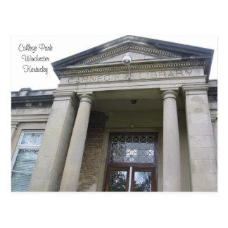 Biblioteca de Carnegie, parque de la universidad, Postal