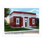 Biblioteca de Carnegie, vintage de Hendersonville  Postales