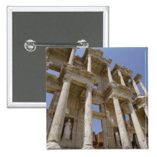 Biblioteca de Celsus, construida en el ANUNCIO 114 Pin Cuadrado