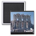 Biblioteca de Celsus, construida en el ANUNCIO 135 Imán Cuadrado