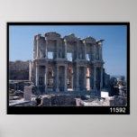 Biblioteca de Celsus, construida en el ANUNCIO 135 Póster