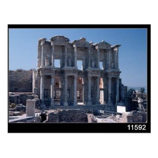 Biblioteca de Celsus, construida en el ANUNCIO 135 Tarjetas Postales