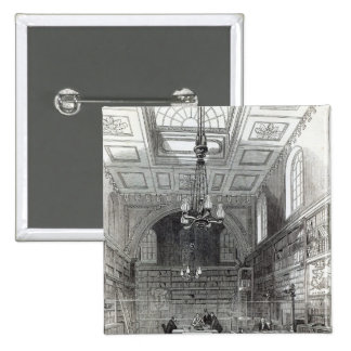 Biblioteca de la Cámara de los lores Pin Cuadrada 5 Cm