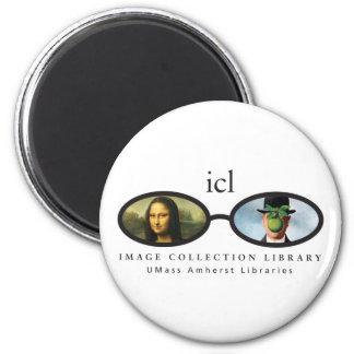 Biblioteca de la colección de la imagen imán redondo 5 cm