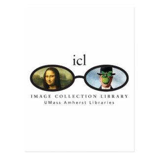 Biblioteca de la colección de la imagen postal